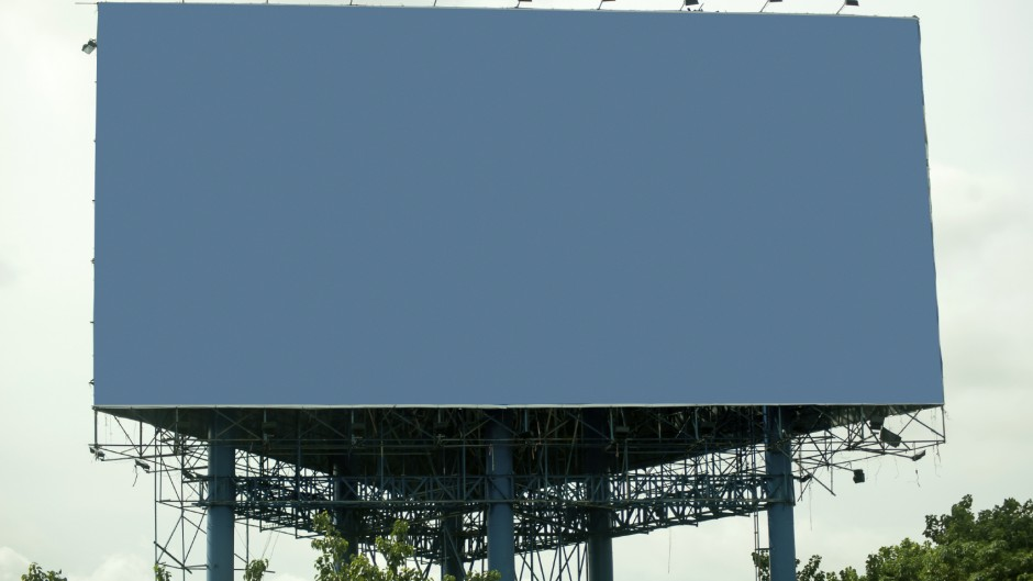 Billboard with empty screen, Free space.