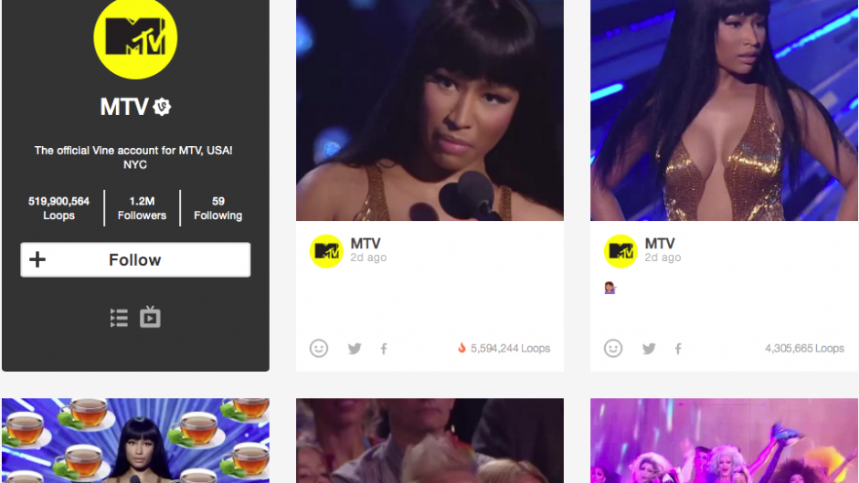 MTV VMA Vines