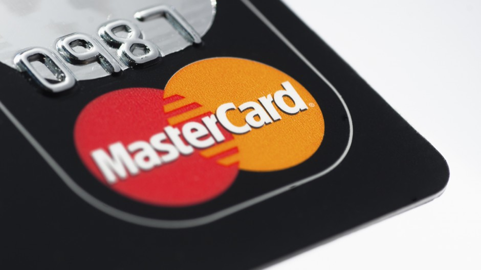 Muenster, Germany - April 9, 2011: A close up macro shot of a Mastercard credit card. Mastercard is one of the biggest credit card companies in the world.