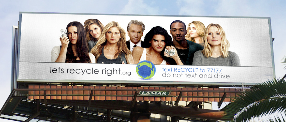 Recycle Across America billboard