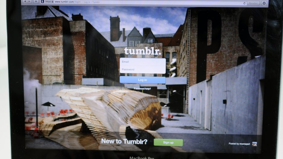 Astanbul, Turkey - July 01, 2013: Tumblr homepage displayed on an Macbook Pro screen.Tumblr is a microblogging platform and social networking website, owned and operated by Tumblr, Inc.