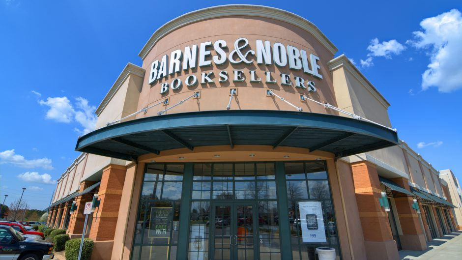 """Athens, USA - March 15, 2012: Exterior of entrance to Barnes & Noble Booksellers.With over 700 stores nationwide, Barnes and Noble Inc. is the largest book retailer in the United States."""