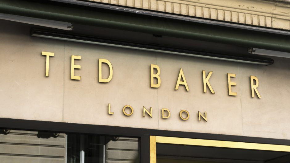 Paris, France - April 28, 2016: Ted Baker clothing storefront. Founded in Glasgow in 1987, Ted Baker is one of the fastest-growing leading lifestyle brands in the United Kingdom with a portfolio of stores also in USA and is also present in leading department stores