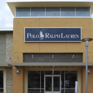 Mesa, AZ, USA - August 18, 2014: The Ralph Lauren Corporation was established in 1967 in Bronx, NY, eventually extending to international markets. The store sells men's and women's apparel. Taken august 18, 2014.