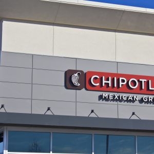 Indianapolis, U.S. - February 13, 2016: Chipotle Mexican Grill Restaurant. Chipotle is a Chain of Burrito Fast-Food Restaurants V